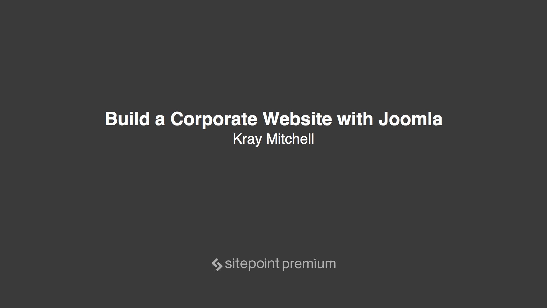 build a corporate website joomla sitepoint premium
